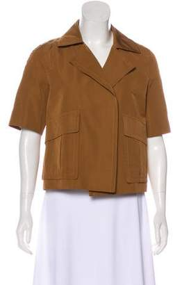Derek Lam Short Sleeve Open Front Jacket