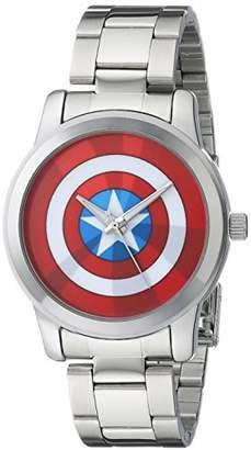Marvel Men's W001780 The Avengers Captain America Analog-Quartz Silver Watch