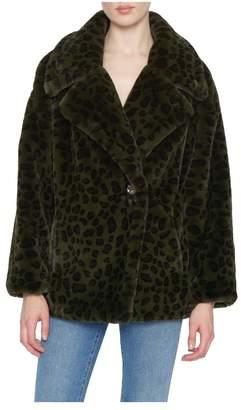 Apparis Amelia Printed Faux Fur Jacket