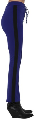 Unravel LACE UP FLARE TECH VISCOSE PANTS W/ BAND