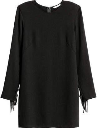H&M Dress with Fringe - Black