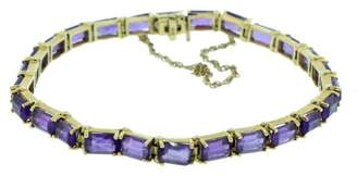 14K Yellow Gold & Emerald Cut Amethyst Channel Bracelet