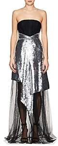 Osman Women's Katherine Embellished Tulle Strapless Gown - Silver