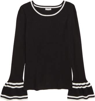 Habitual Girl Rylie Bell Sleeve Ribbed Sweater