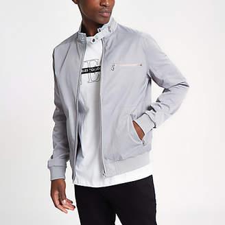 River Island Grey racer neck jacket
