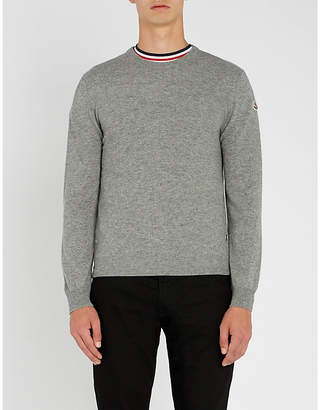 Moncler Logo-embroidered cashmere jumper