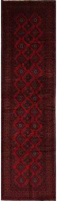 "World Menagerie Putnam Geometric Red Persian Oriental Hand-Knotted Wool Runner Rug 12' 5"" X 3' 5"" World Menagerie"