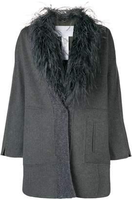 Fabiana Filippi feather embellished coat
