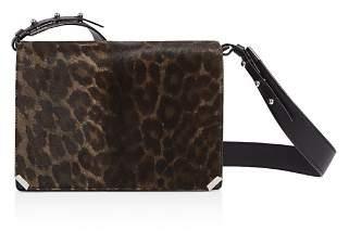 AllSaints Vincent Medium Leopard-Print Calf Hair Shoulder Bag