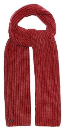 Iris Von Arnim - Colin Ribbed Knit Cashmere Scarf - Mens - Red