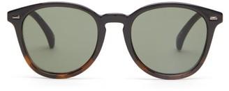 Le Specs Bandwagon Acetate Round Sunglasses - Womens - Black