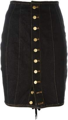 Jean Paul Gaultier Pre-Owned Junior Gaultier laced pencil skirt