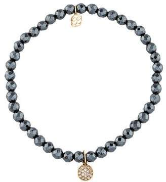 Sydney Evan 14K Hematite & Diamond Bead Bracelet