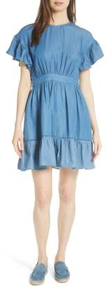 Kate Spade flutter sleeve chambray dress
