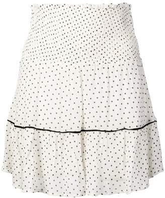 Ganni polka dot skirt