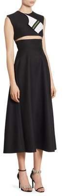 CALVIN KLEIN 205W39NYC Wool Cutout Dress