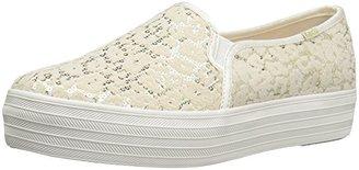 Keds Women's Triple Decker Flocked Leopard Sequins Fashion Sneaker $39.99 thestylecure.com