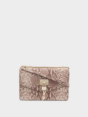 DKNY Elissa Snake Flap Shoulder Bag