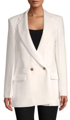 Derek Lam Notch Lapel Cotton Blazer