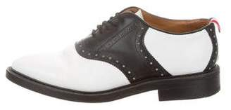 Thom Browne Brogue-Trimmed Leather Spectators