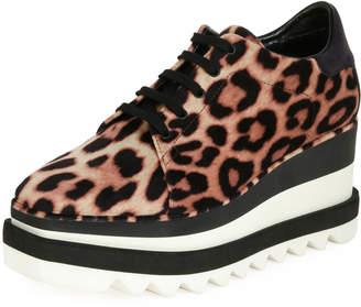 Stella McCartney Sneakelyse Leopard Wedge Sneakers
