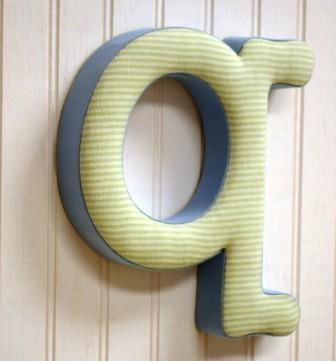 "Kaloo Fabric Letter ""Q"" Blue/Green"