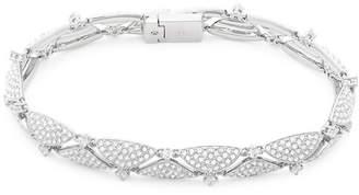 Adriana Orsini Crystal & Silver Line Bracelet
