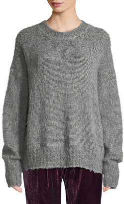 Helmut Lang Brushed Wool-Blend Crewneck Sweater