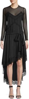 Faith Connexion Silk & Lace High-Low Dress