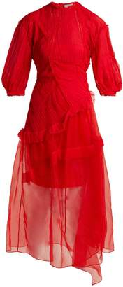 Preen by Thornton Bregazzi Risse pleated-panel silk dress