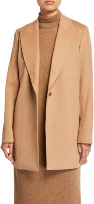 Lafayette 148 New York Kourt One-Button Camel Hair Jacket