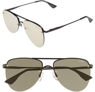Women's Le Specs 'The Prince' 57Mm Sunglasses - Matte Black/ Gold $89 thestylecure.com