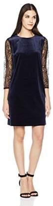 Savoir Faire Dresses Women's Long Lace Spliced Sleeve Velvet Dress 4