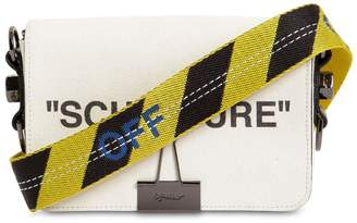 Off-White Off White Logo Printed Mini Canvas Flap Bag