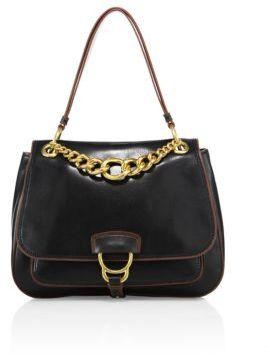 Miu MiuMiu Miu Large Dahlia Madras Leather Saddle Bag