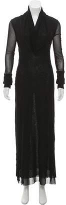 Jean Paul Gaultier Long Sleeve Mesh Dress