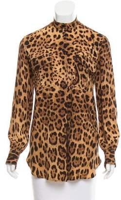 Dolce & Gabbana Silk Animal Print Tunic