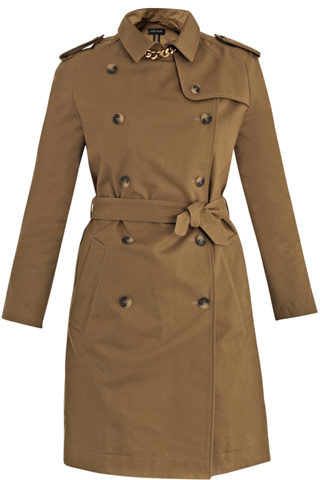 Sophie Hulme Gold-plated cotton trench coat