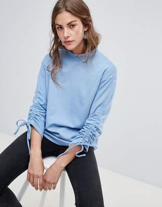 Vero Moda tie sleeve sweatshirt
