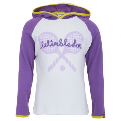 Wimbledon Embroidered Rackets Hoody