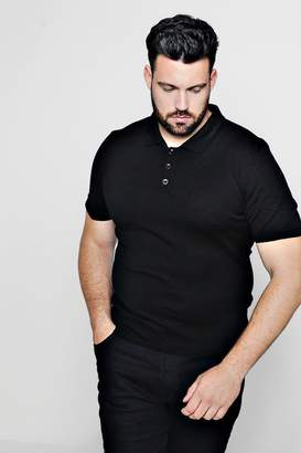 boohoo Big And Tall Fine Gauge Knit Polo