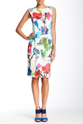 Ellen Tracy Floral Sleeveless Dress $128 thestylecure.com