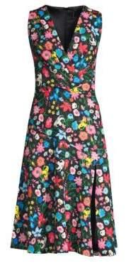 Elie Tahari Jila Floral Midi Dress