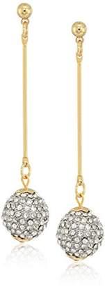 Kenneth Jay Lane Women's Bar Crystal Ball Drop Earrings