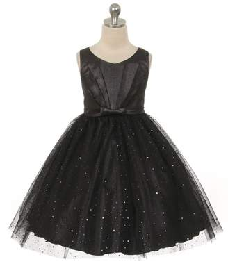 Kids Dream Luna- Sparkly Tulle Dress Black