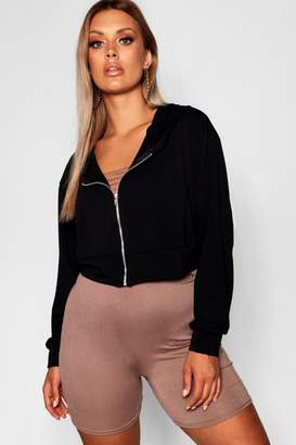 boohoo Plus Oversized Zip Up Hoody