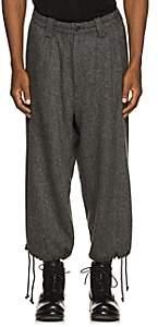 Yohji Yamamoto Men's Tweed Wool-Blend Balloon Trousers - Gray