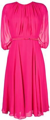 Max Mara belted flared dress
