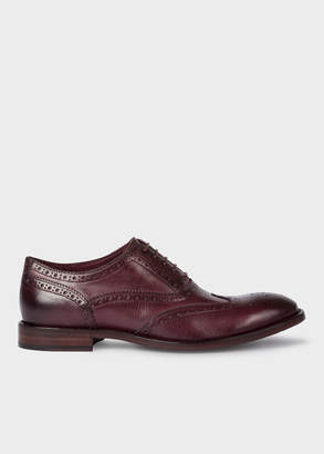 Paul Smith Men's Dark Purple Leather 'Munro' Flexible Travel Brogues
