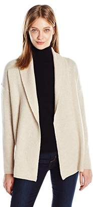 Sofia Cashmere Women's Texture Shawl Collar Cardigan